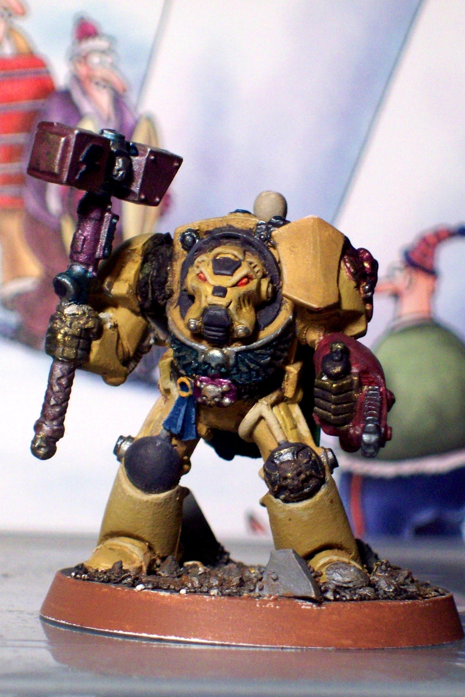 Chainfist, Nifty, Space Marines, Terminator Armor, Thunder Hammer