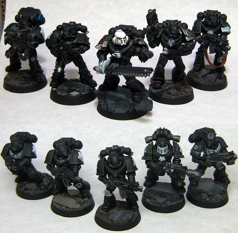 Forge World Armour, Raven Guard, Space Marines, Tactical Squad