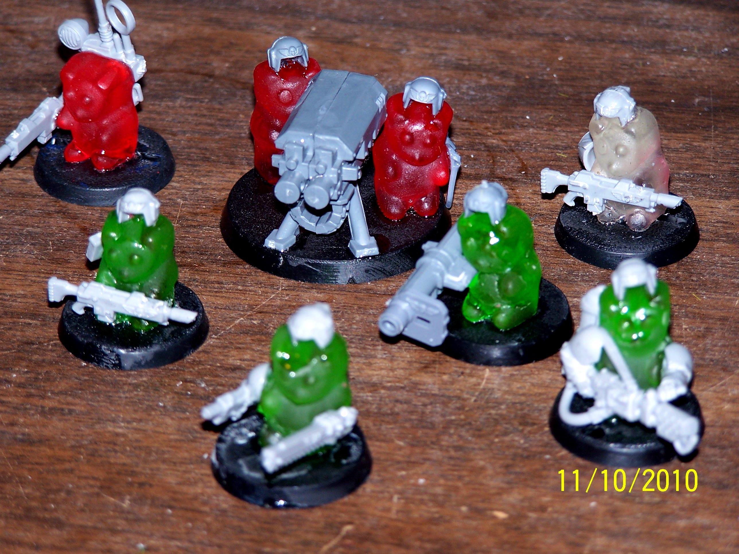 Gummy Bear, Humor, Imperial Guard, Warhammer 40,000, Work In Progress