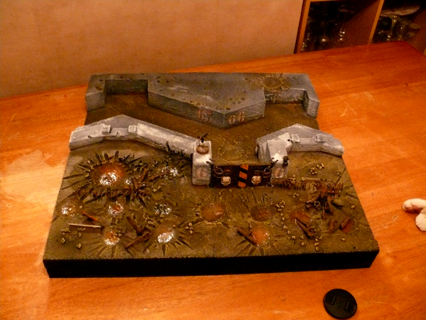 Blasted, Board, Bunker, Crater, Game, Guard, Imperial, Modular, Terrain, Trenches, Warhammer 40,000
