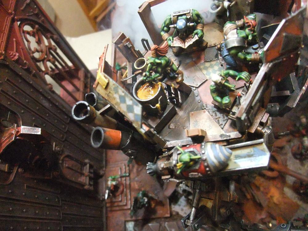 Diorama, Gretchin, Orks, Scratch Build, Stompa
