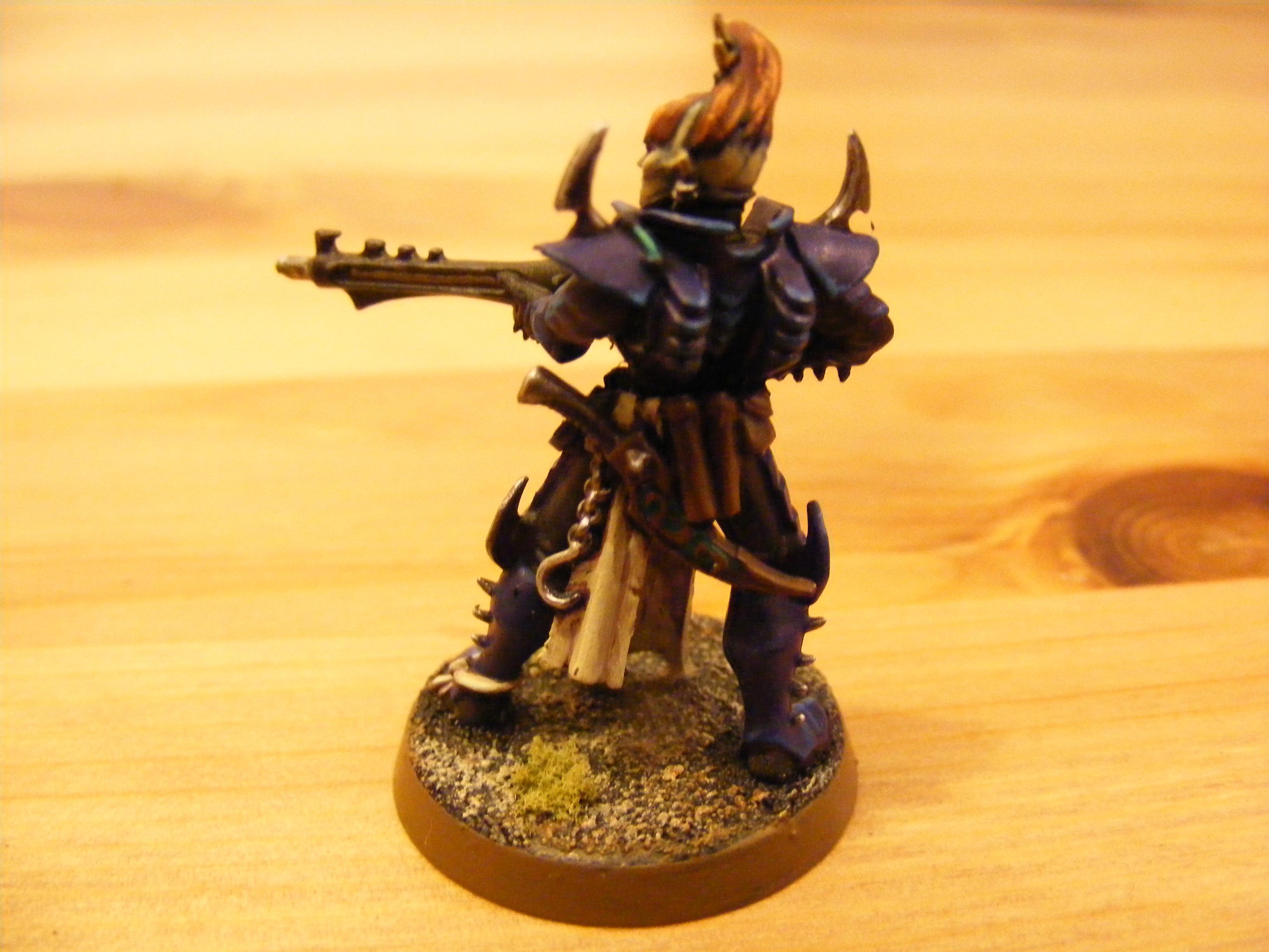 Dark Eldar, Colour Scheme Test - Rear