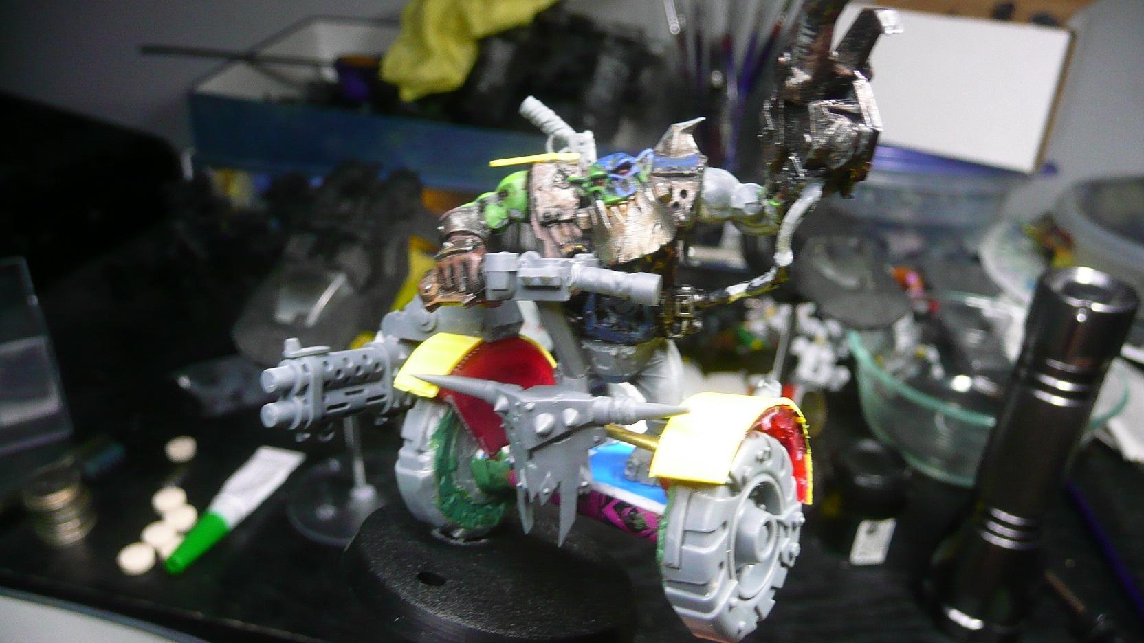 Conversion, Orks, Segway, Warbike, Warboss