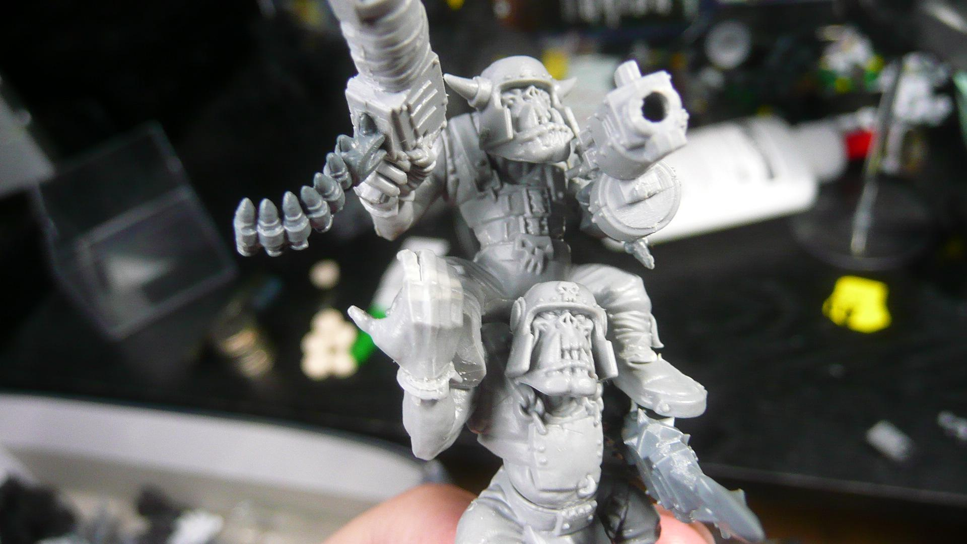 """Conversion, Orks, I call this nob a """"twin-linked boy"""""""