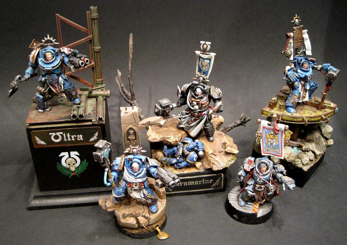 Chaplain, Librarian, Raff Goodness, Space Marines, Terminator Armor, True Scale, Ultramarines