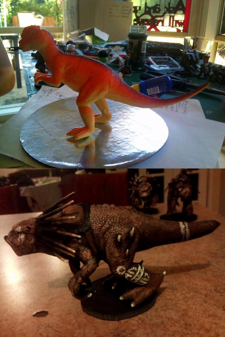 Dinosaur, Knarloc, Kroot, Tau, Toy