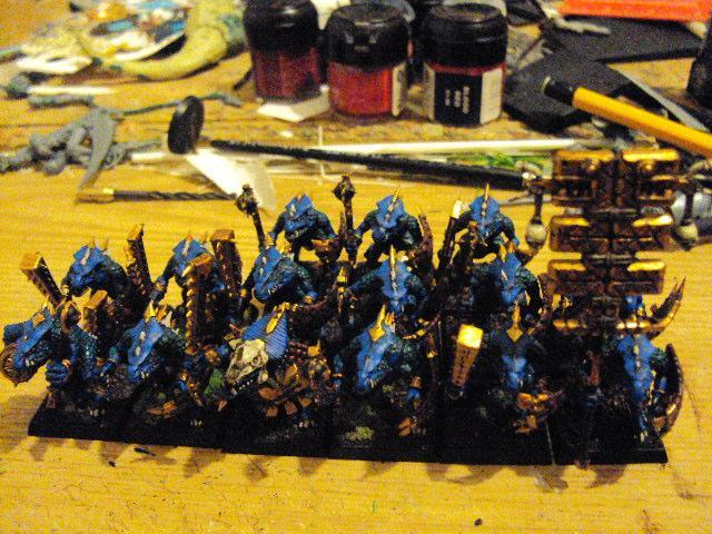 Lizardmen, Saurus Warriors, Warhammer Fantasy