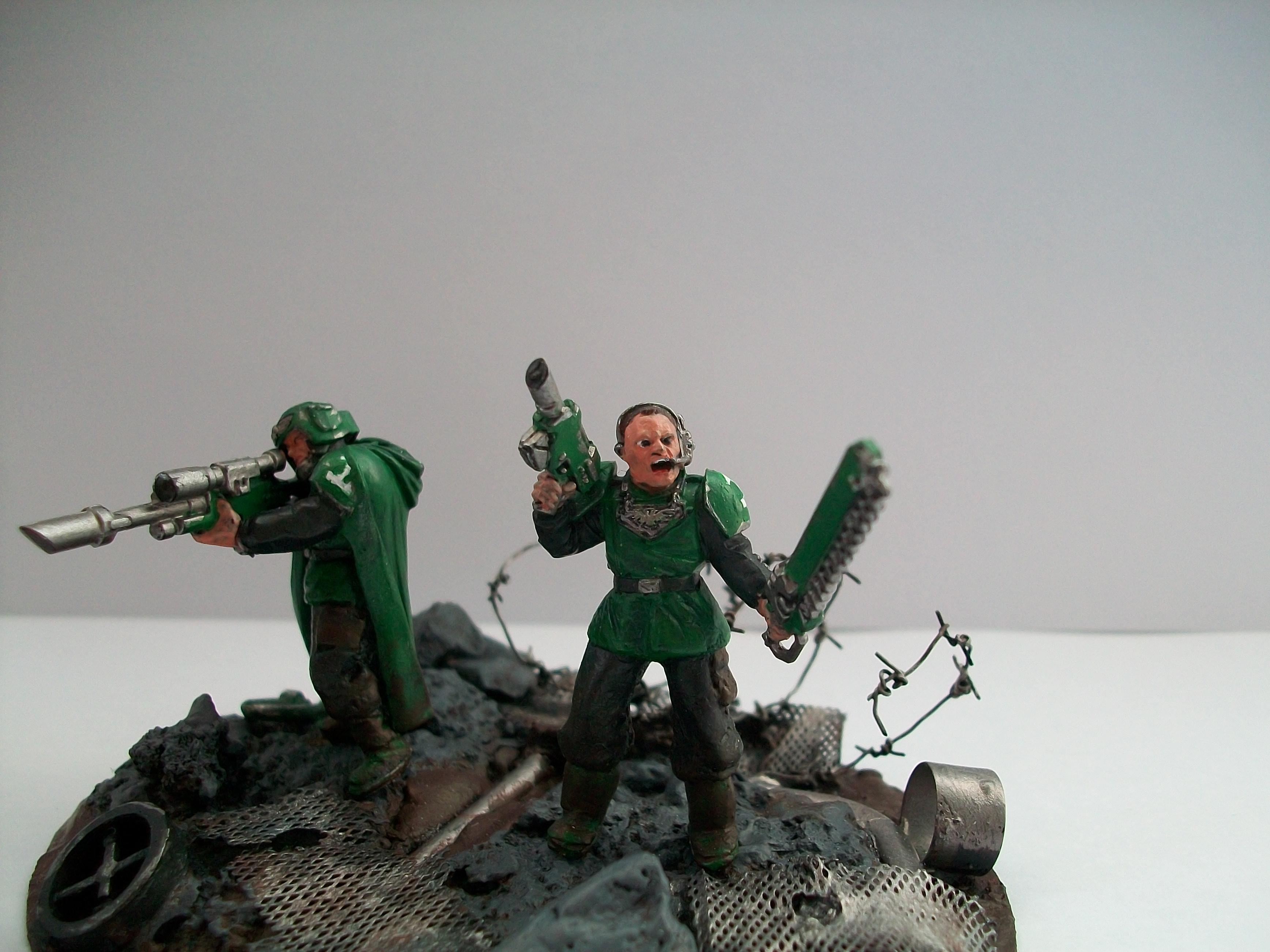 Diorama, Guardsmen, Warhammer 40,000