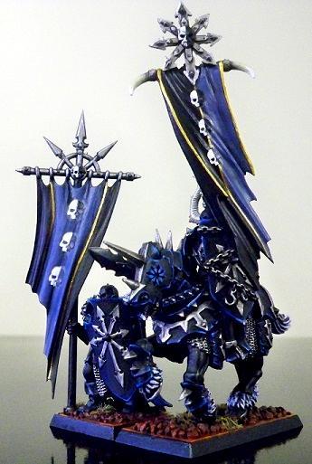 Banner, Chaos Warrior, Knights, Malal, Standard Bearer, Warriors Of Chaos, Woc