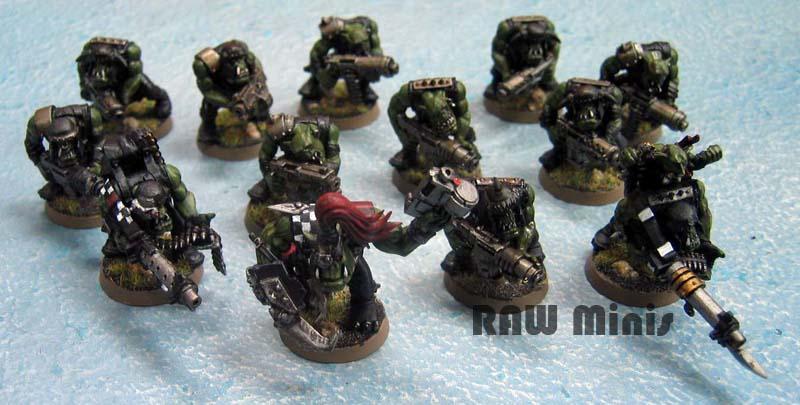 Bigshootas, Boy, Nob, Orks, Painting, Shootaboyz, Warhammer 40,000