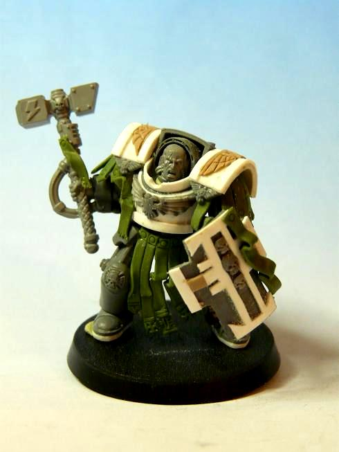 Greenstuff, Scratch Build, Space Marines, Storm Shield, Terminator Armor, Thunder Hammer