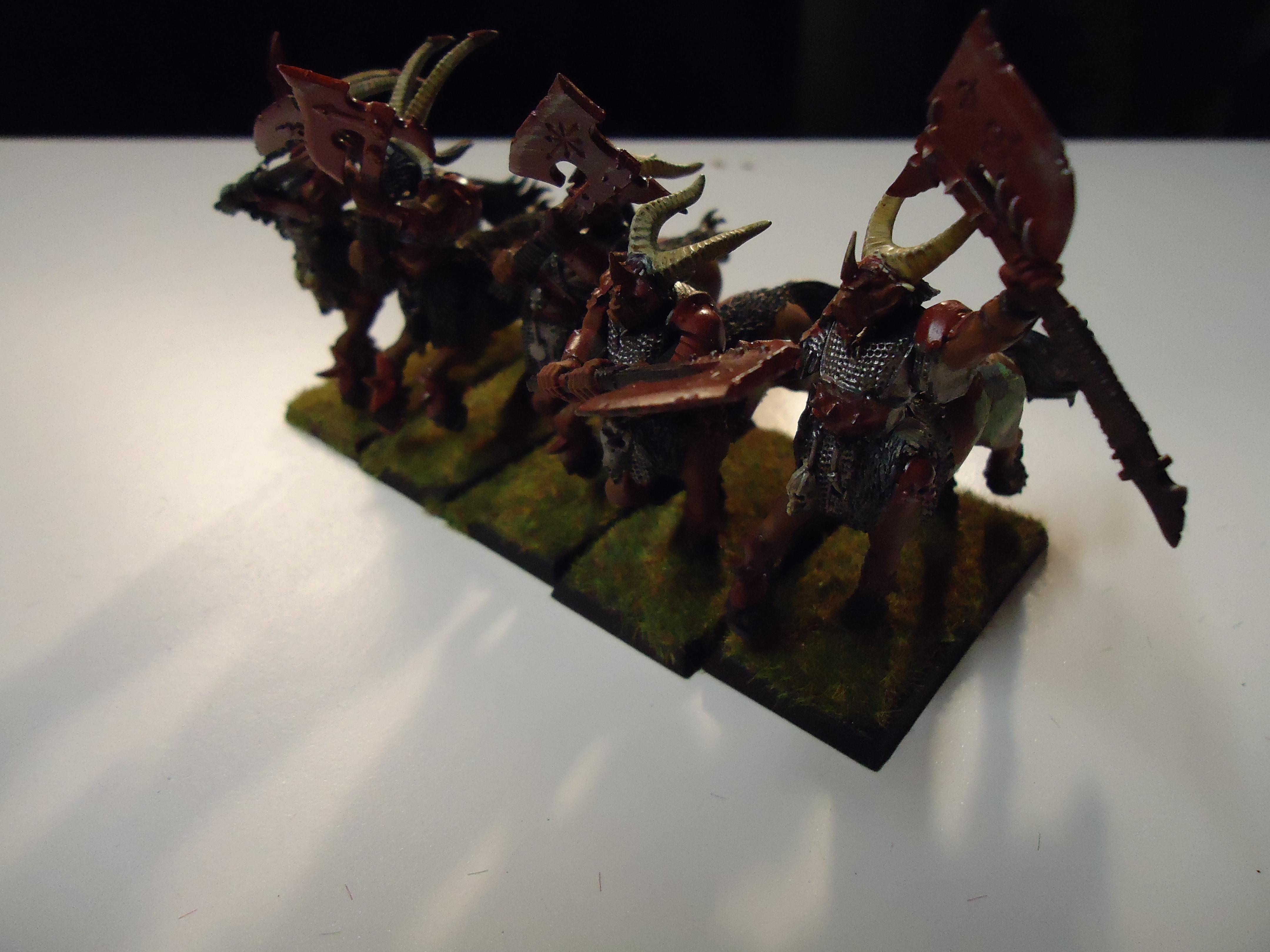 Beastmen, Centigores, Conversion, Great Weapon, Work In Progress