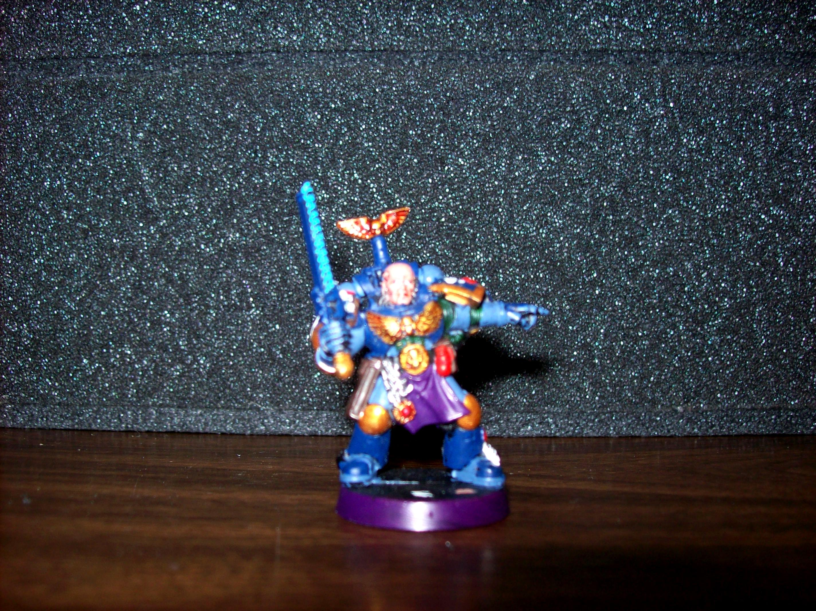 Melee, Miniature, Sergeant, Space Marines