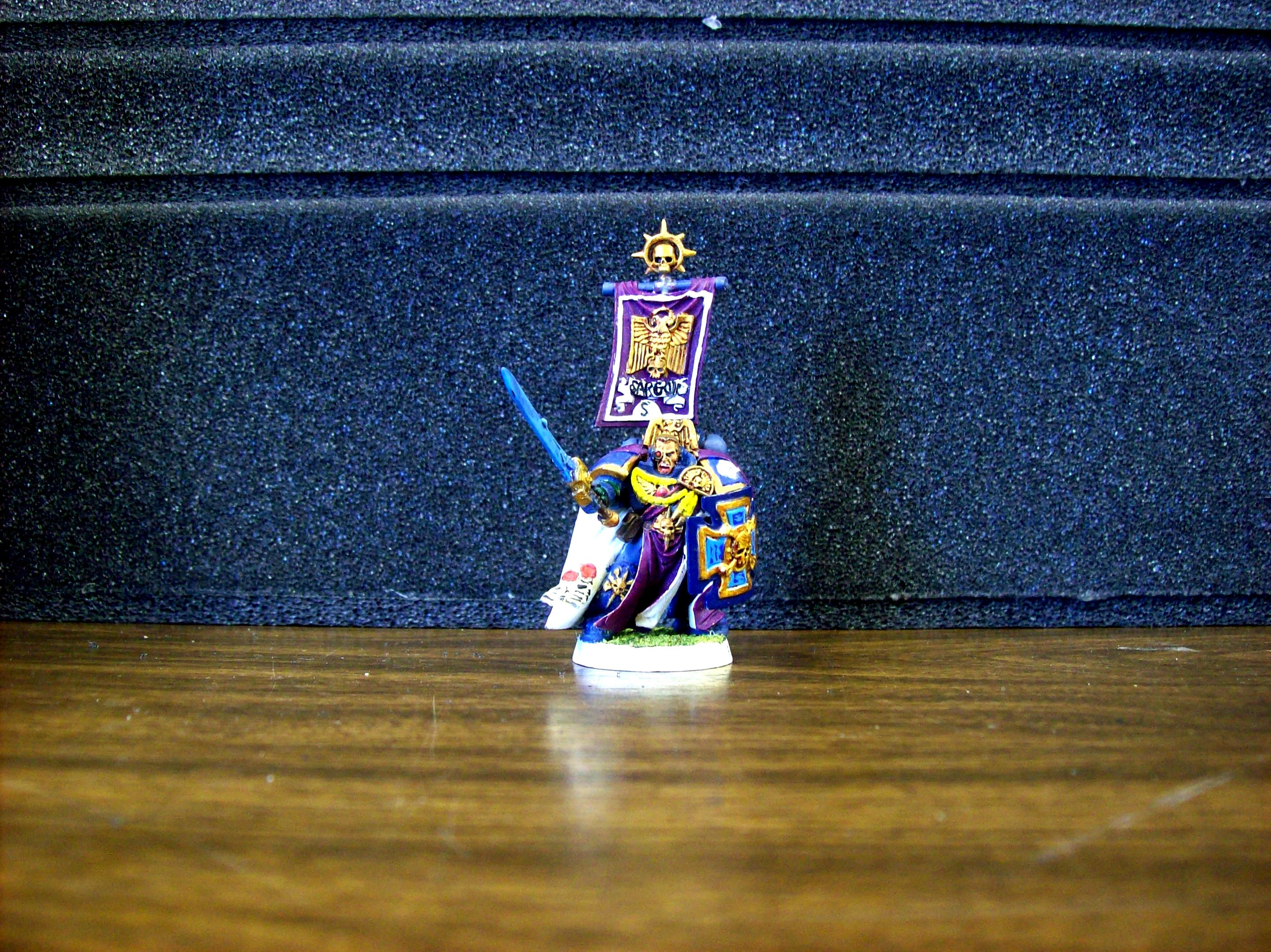 Banner, Captain, Melee, Miniature, Space Marines