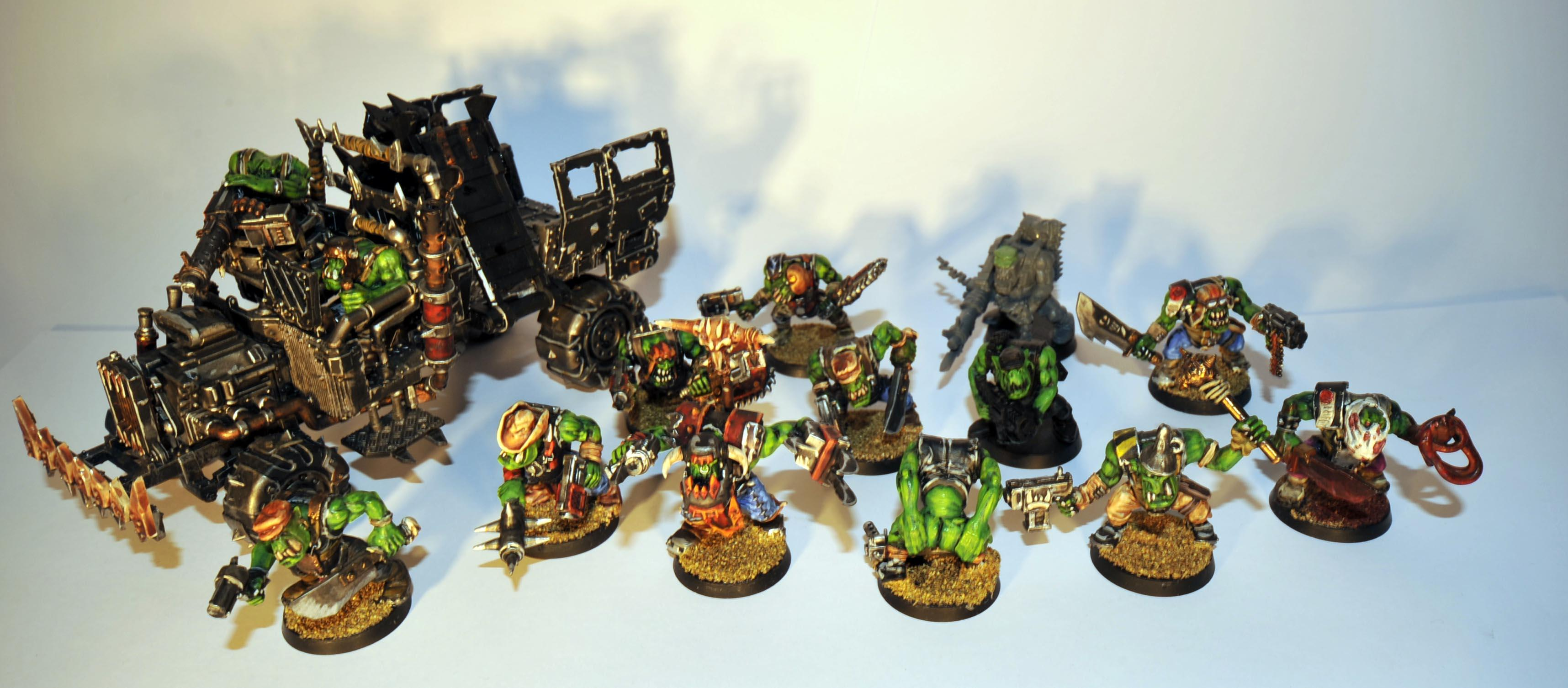 Boy, Evil Sunz, Mob, Mooning Ork, Orki, Orks, Speed Freaks, Truk, Truk Boyz, Work In Progress