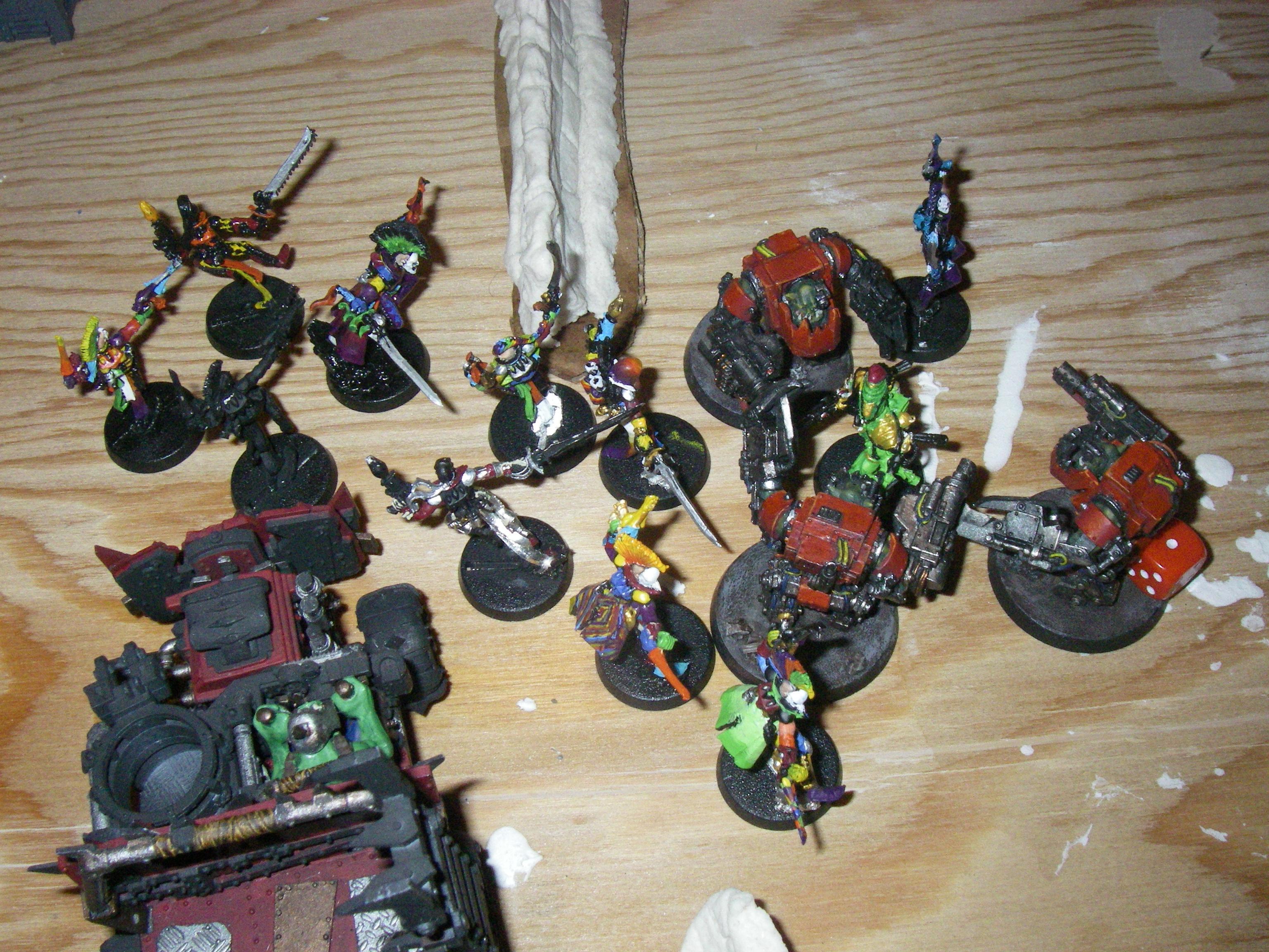 Battle Report, Eldar, Harlequins, Mega-armour, Orks