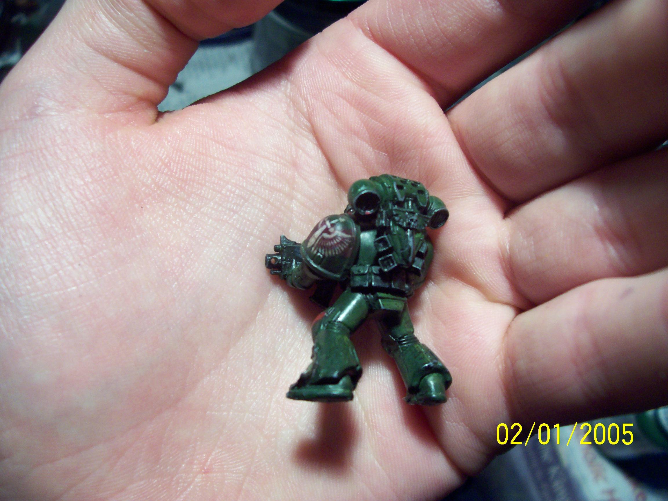 Dark Angels, Freehand, Icon, Space Marines, Tactical Squad, Wash