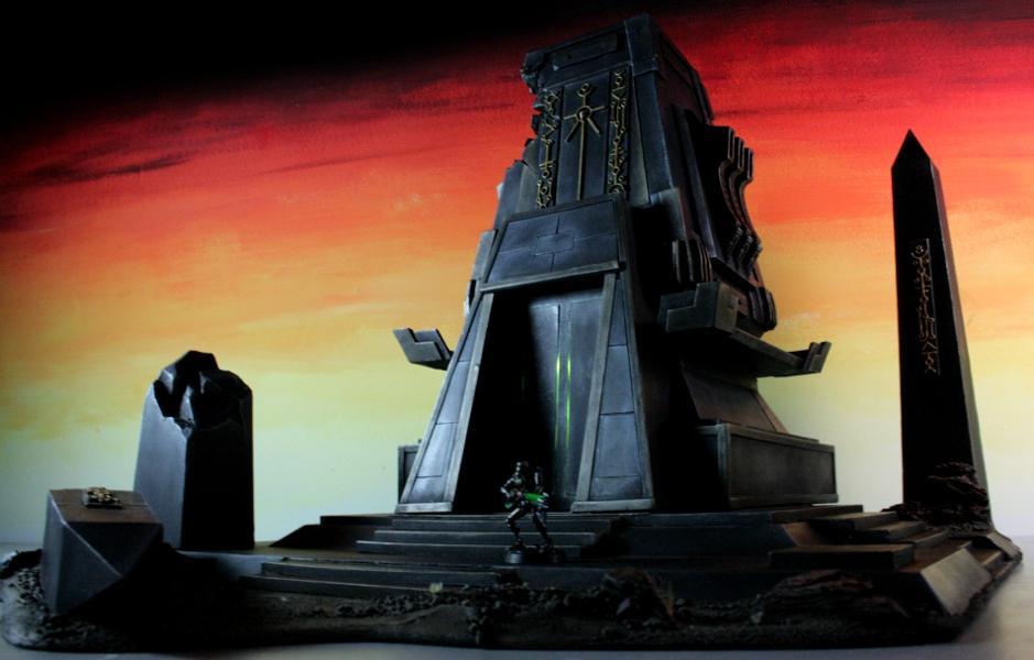 3t, Glowing, LED, Monolith, Necrons, Temple, Terrain, Xeno