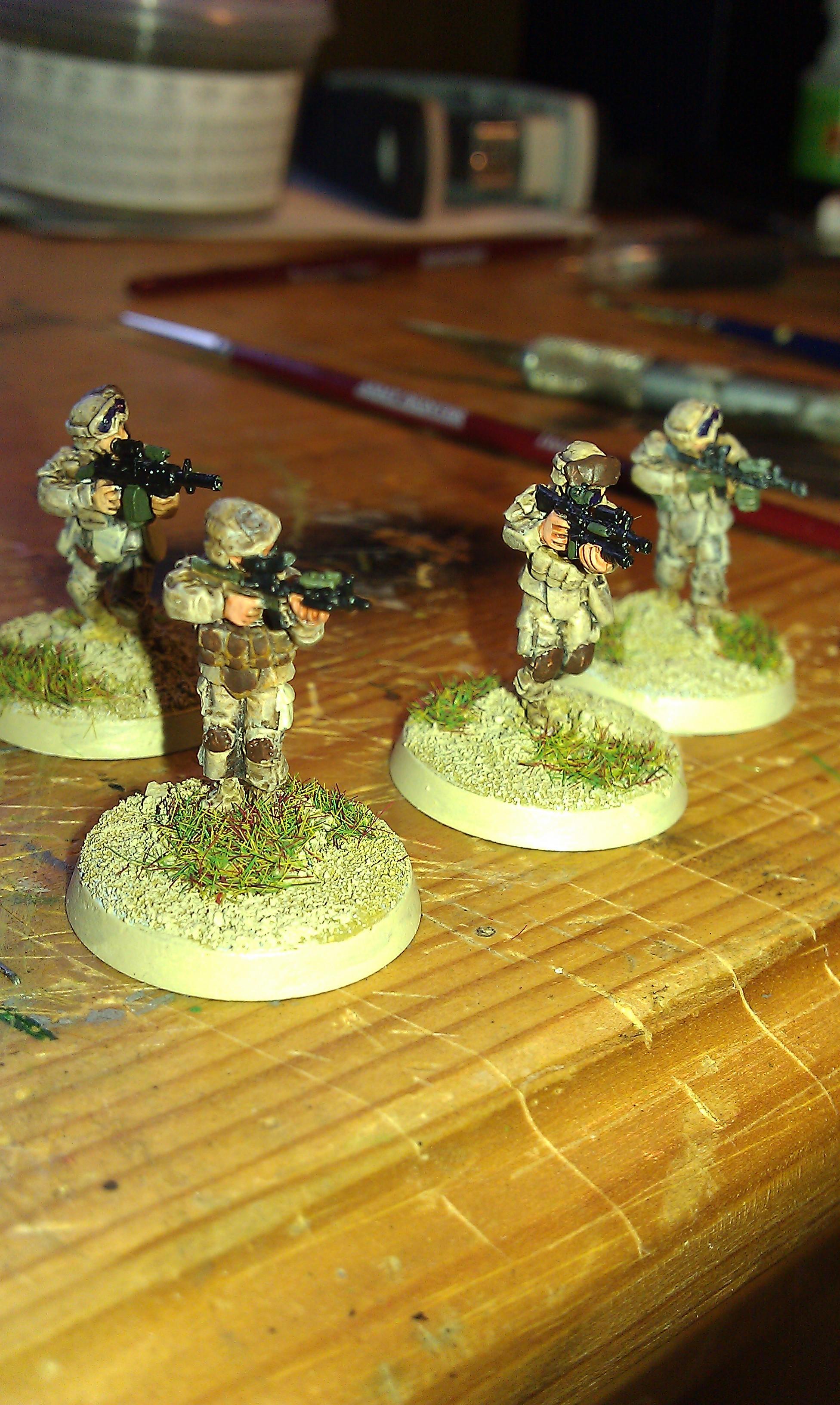 20mm, Elheim, Historical, Infantry, Modern, Space Marines, United States Marine Corps, Usmc