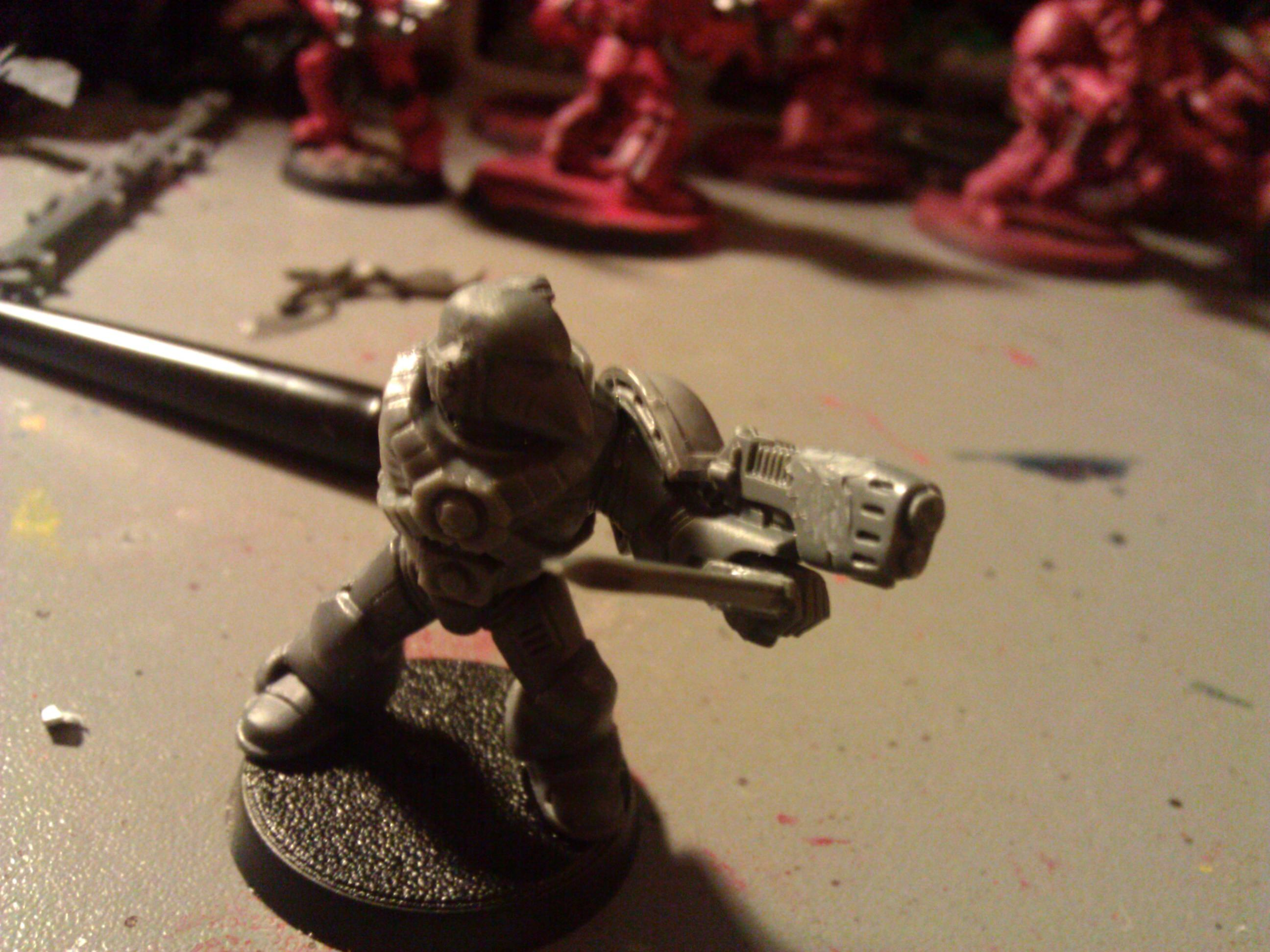 Combi Weapon, Kitbash present i am making for a friends raven guard army
