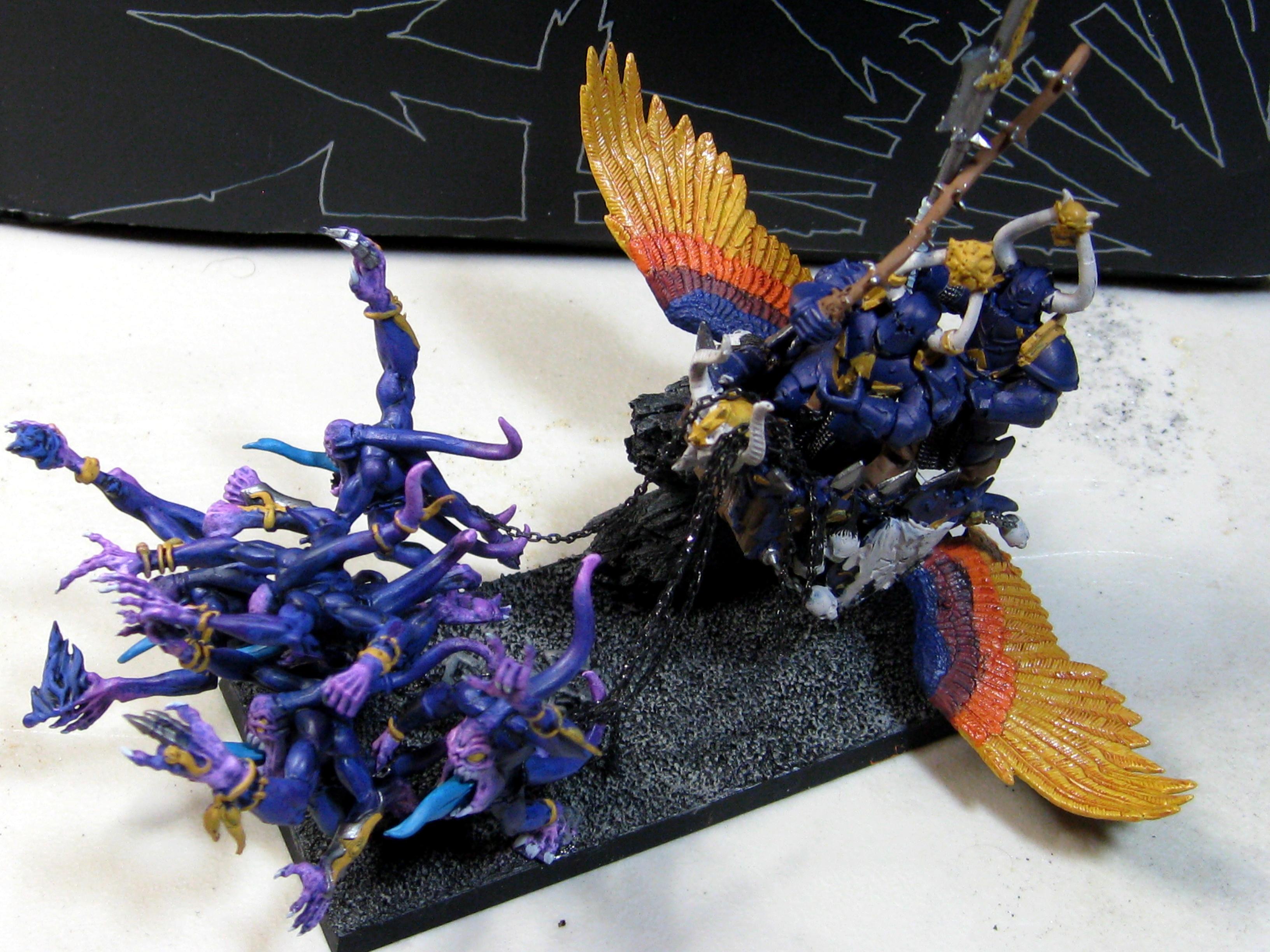 Chaos, Chariot, Tzeentch, Warriors