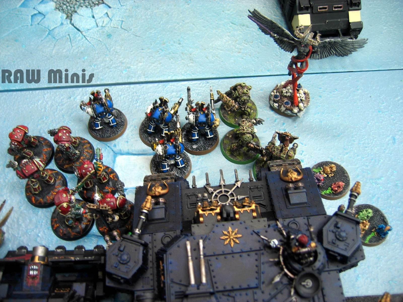 Apocalypse, Battle, Battle Report, Biggest Game Ever, Chaos, Chaos Daemons, Chaos Space Marines, Converting, Daemons, Painting, Warhammer 40,000