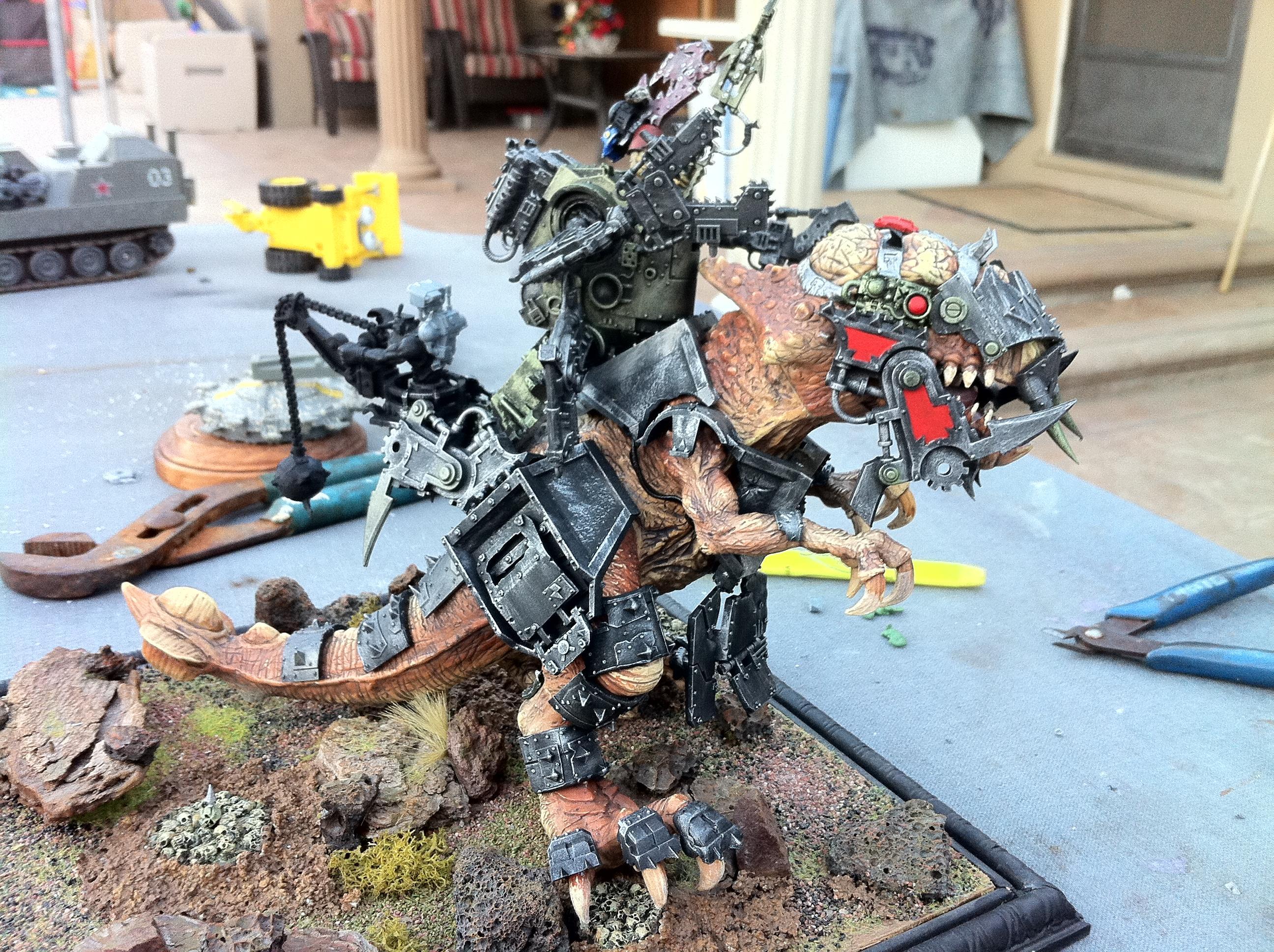 Boss, Dinosaur, Orks, Tyranasaurs, War