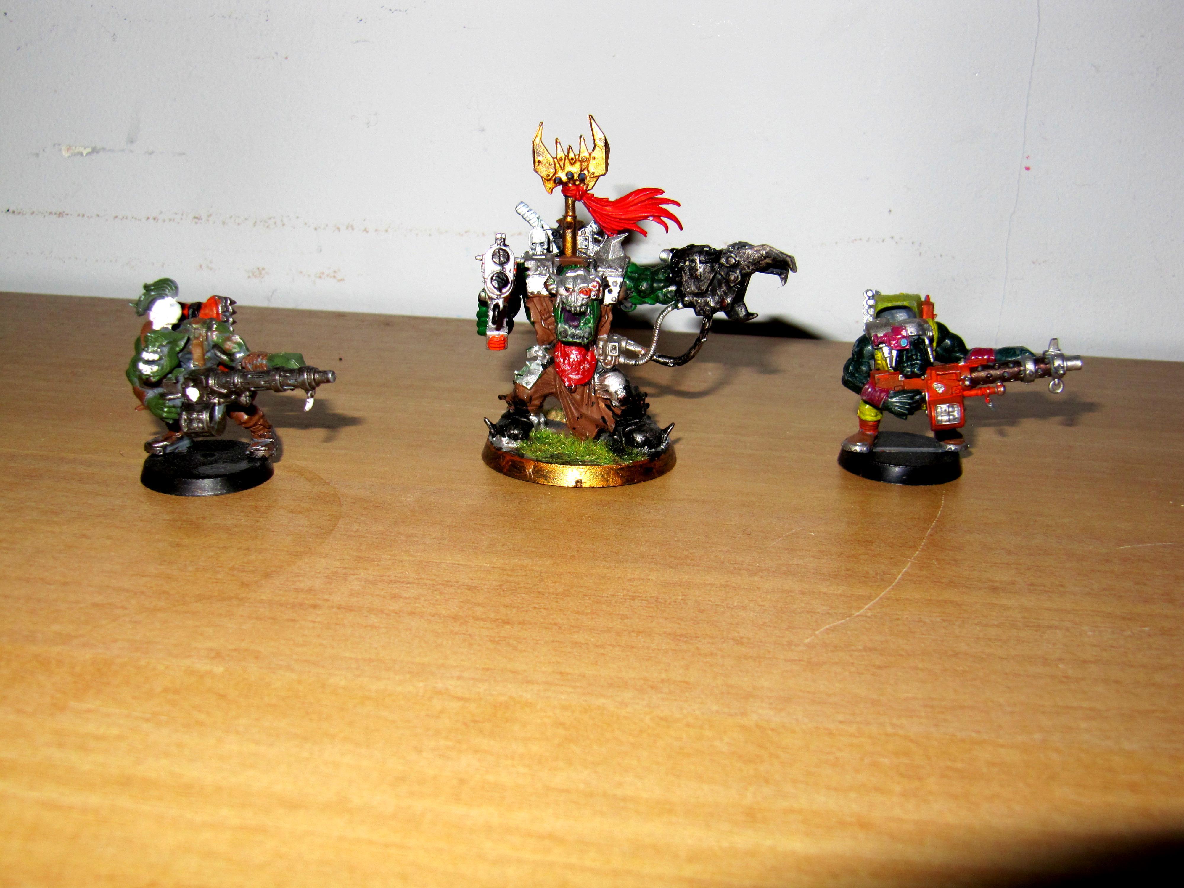 Orks, Warboss, Warboss & 2 Lootas