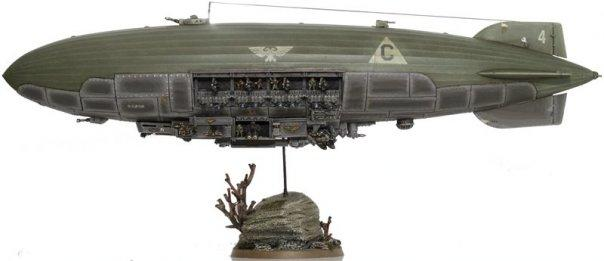Airship, Blimp, Huge, Imperial Guard, Zeppelin