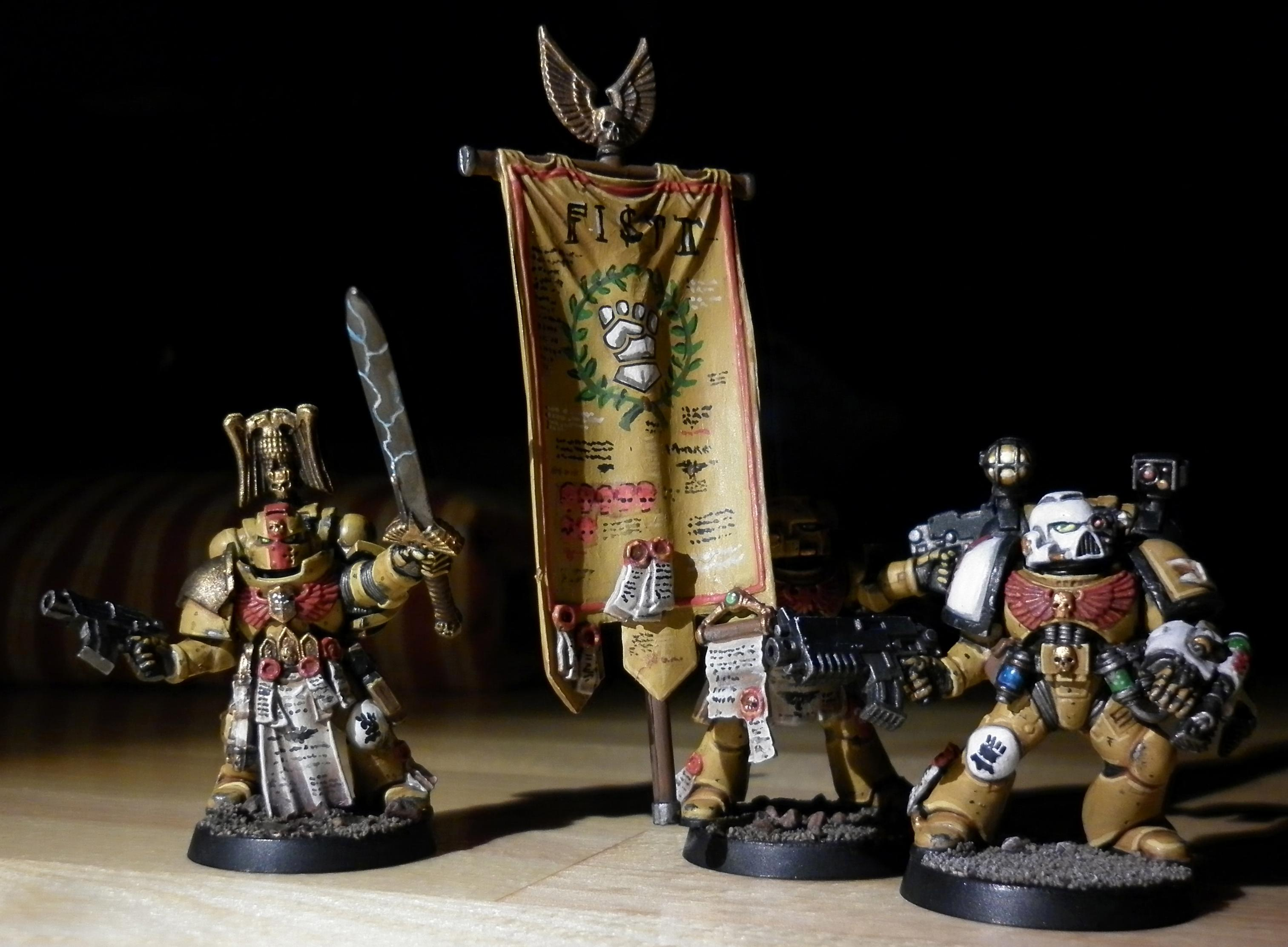 Aphotecary, Command Squad, Imperial Fists, Space Marines