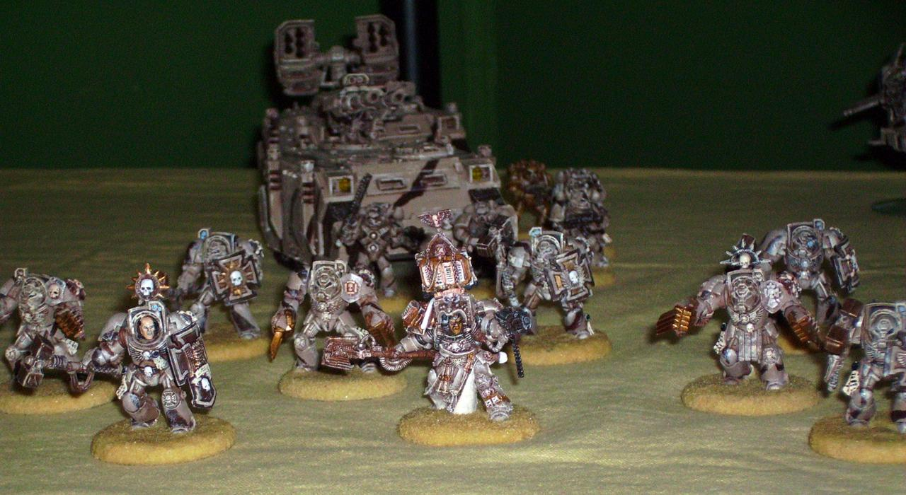 Desert Space Marine Terminator Assault Squad with Librarian