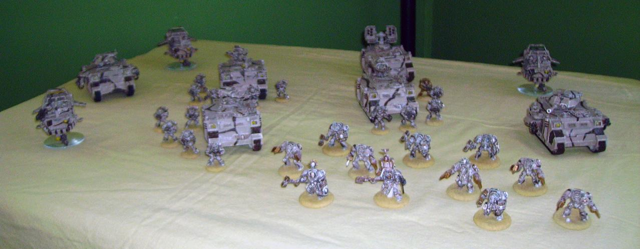 1500 Points worth of Desert Space Marines