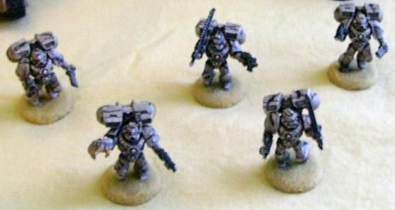 Desert Space Marine Assault squad