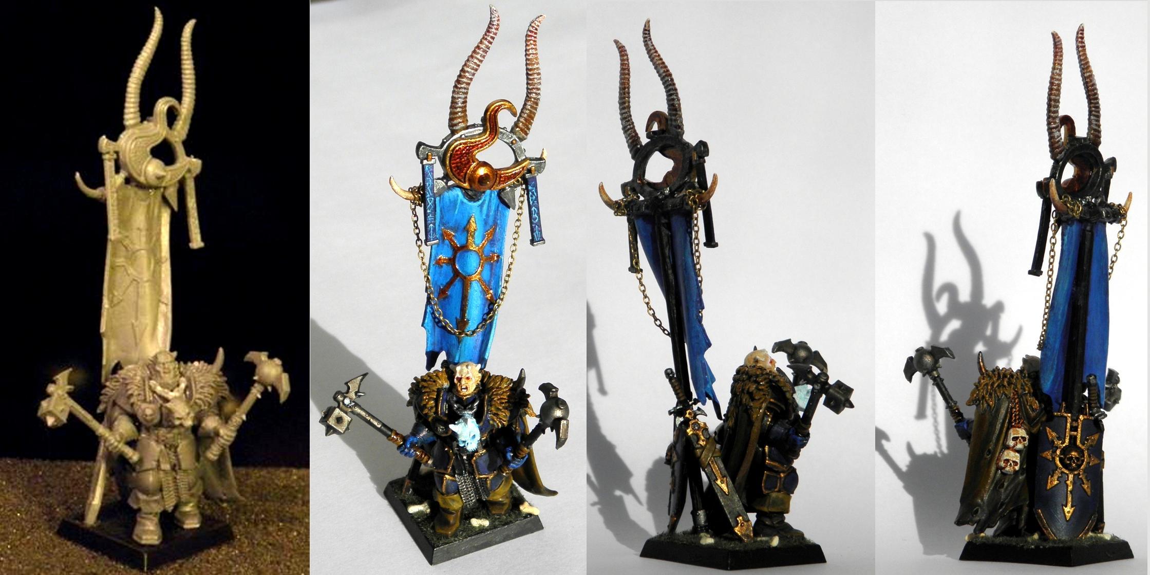 Chaos, Chaos Warrior, Standard Bearer, Tzeentch, Warhammer Fantasy