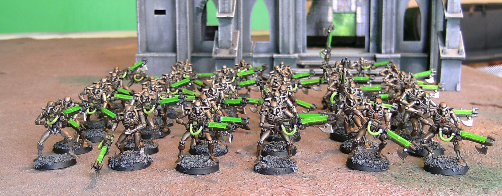 Necron Warriors, Necrons, Ouze, Warhammer 40,000