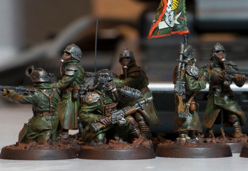 Am, Astra Militarum, Death Korps of Krieg, Guard, Imperial Guard, Pcs, Platoon Command Squad, Warhammer 40,000