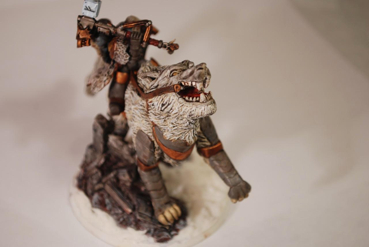 Snow, Space Wolves, Storm Shield, Thunder Hammer, Thunderwolf Cavalry, Wolf