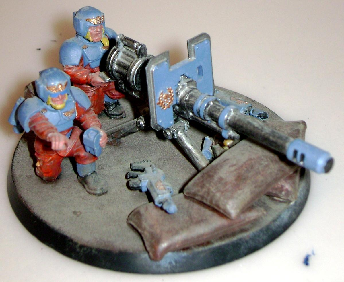 Autocannon, Heavy Weapon, Imperal Guard, Warhammer 40,000, Weathered