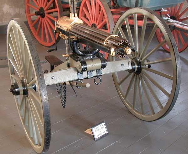 Carriage, Gatling Gun