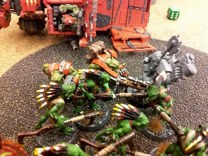 Battle, Report, Tau, My kroot VS boyz