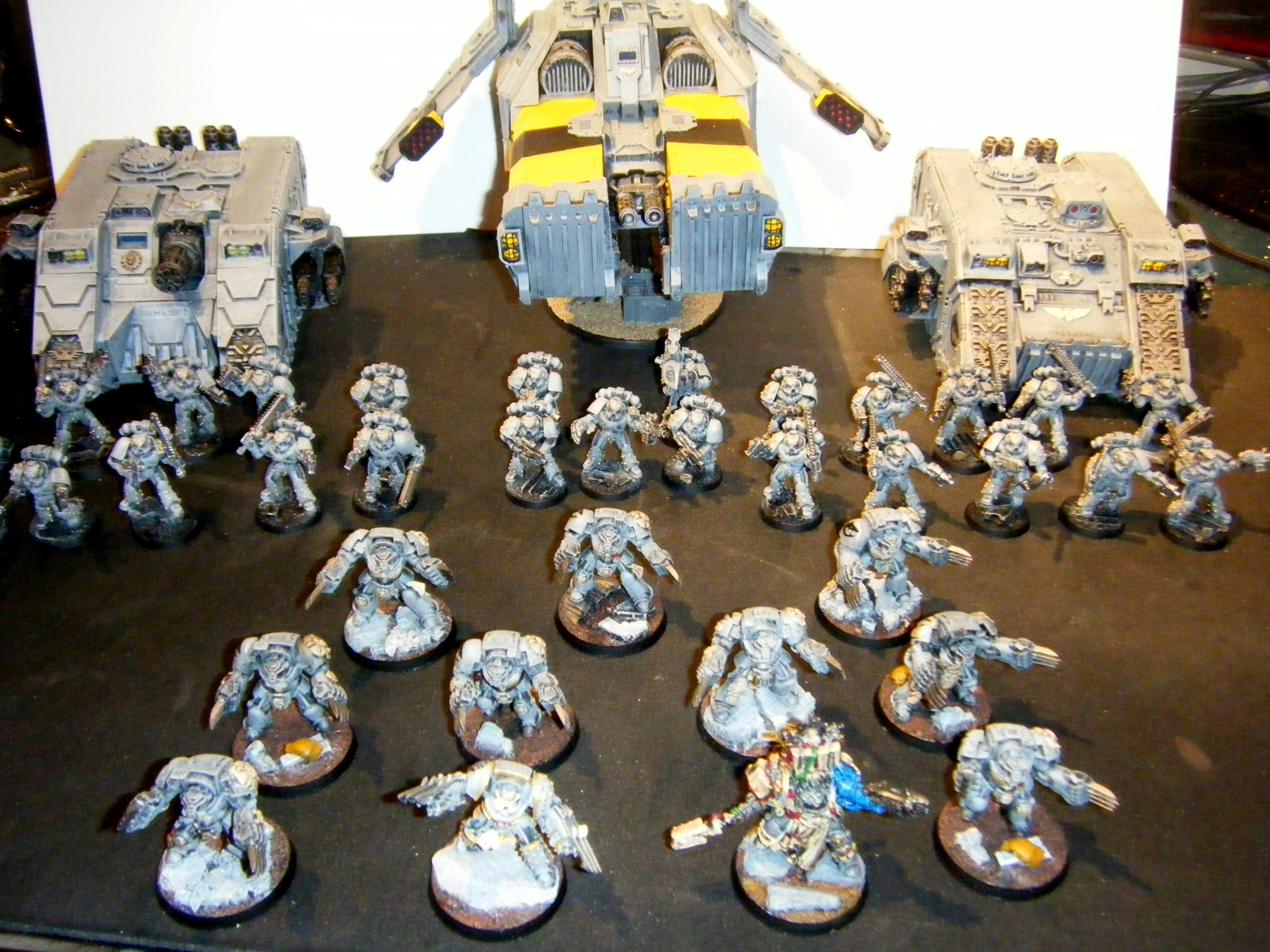 Armor, Assault, Carcharodons, Land, Librarian, Raiders, Ram, Sharks, Space, Sterngaurd, Tactical, Terminator Armor