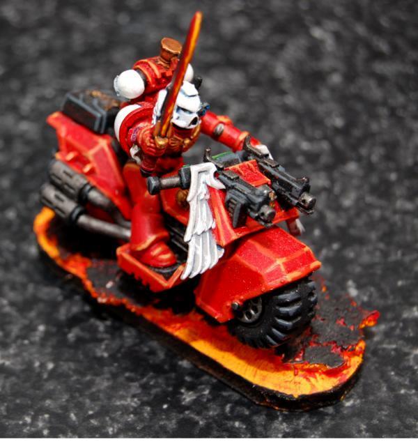 Bike, Blood Angels, Sanguinary Priest, Warhammer 40,000
