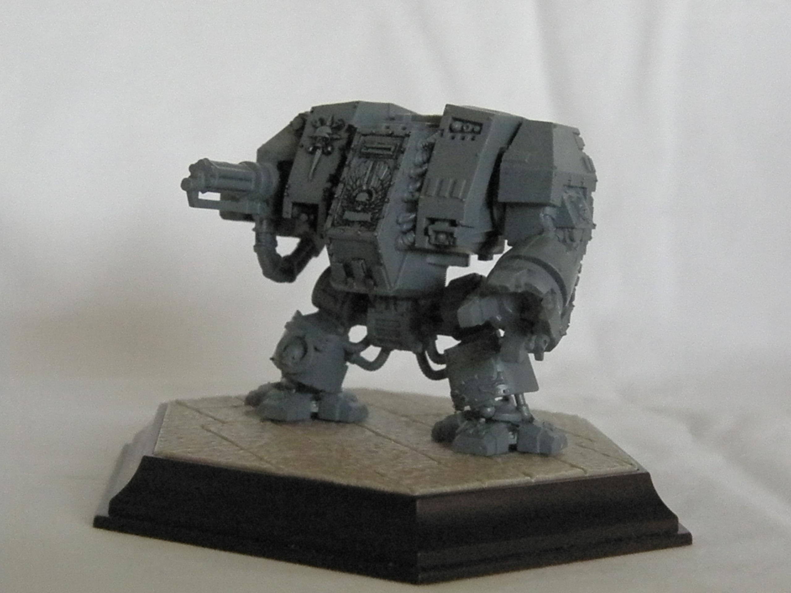 Assault Cannon, Base, Conversion, Dread Nought, Dreadnought, Unpainted, Work In Progress