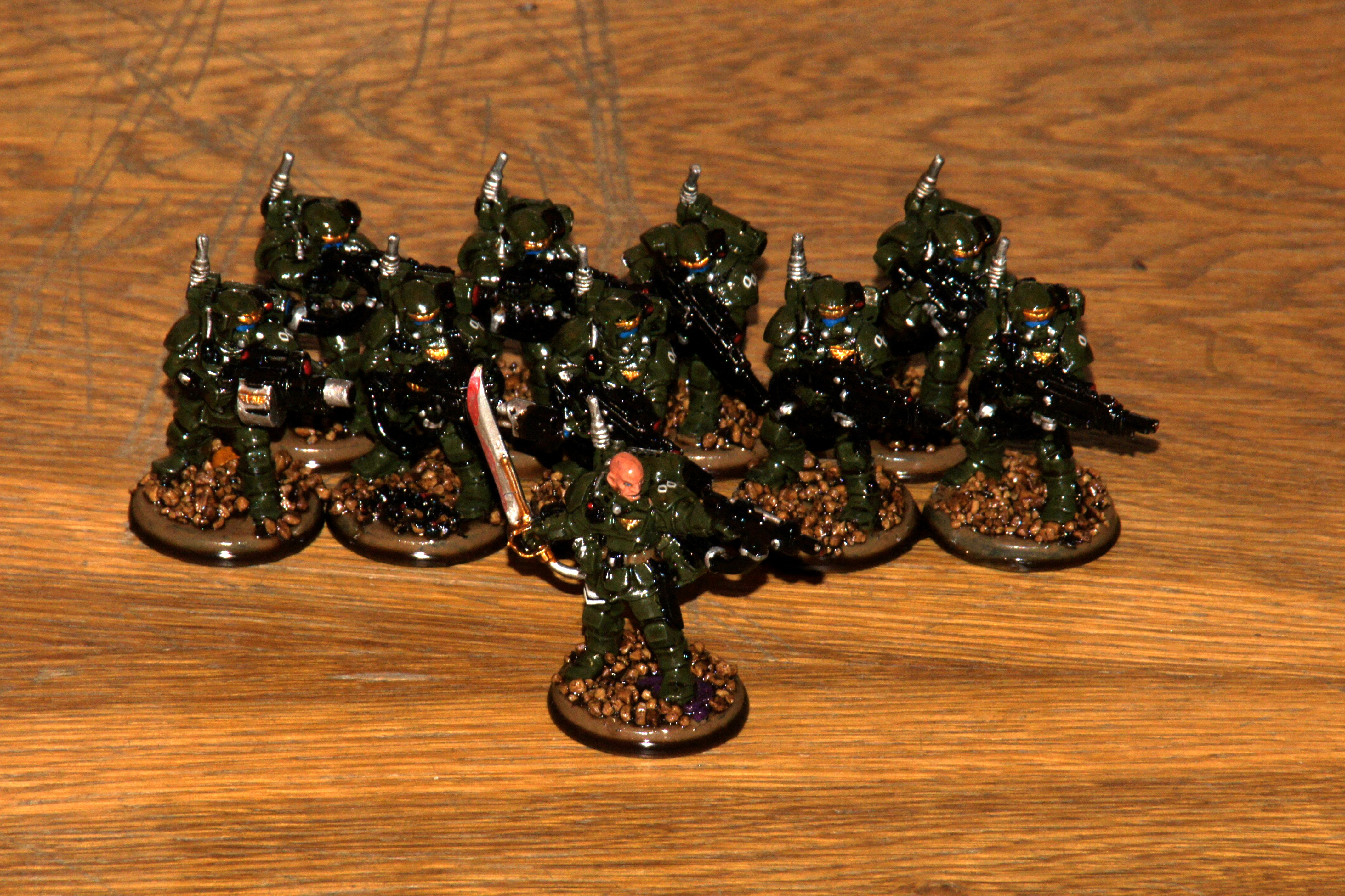 Army Painter, Imperial Guard, Kasrkin, Militarum Tempestus, Quickshade, Storm Troopers, Tempestus Scions