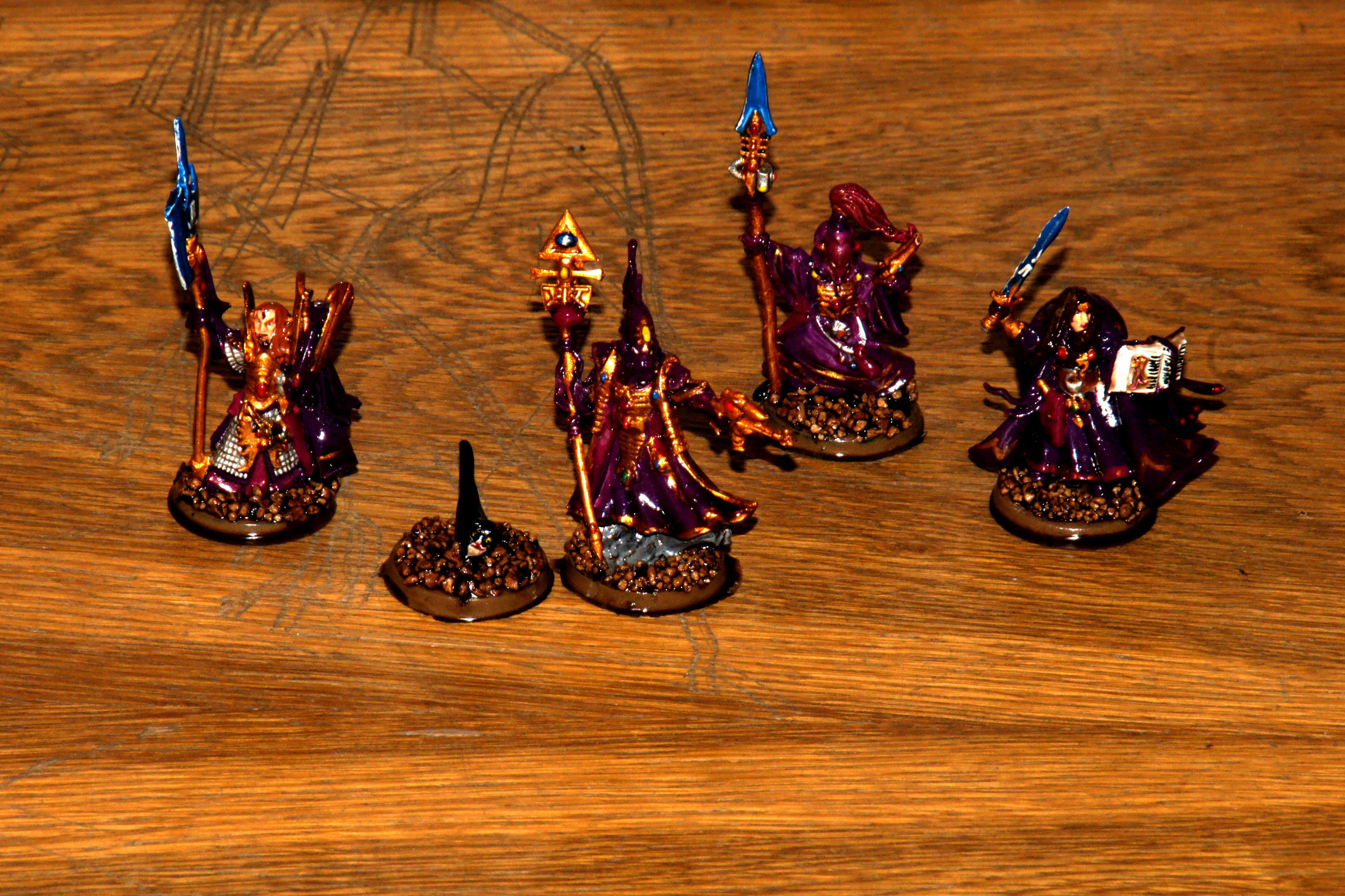 Army Painter, Conversion, Eldar, Farseer, High Elves, Quickshade, Seer Council, Warlock
