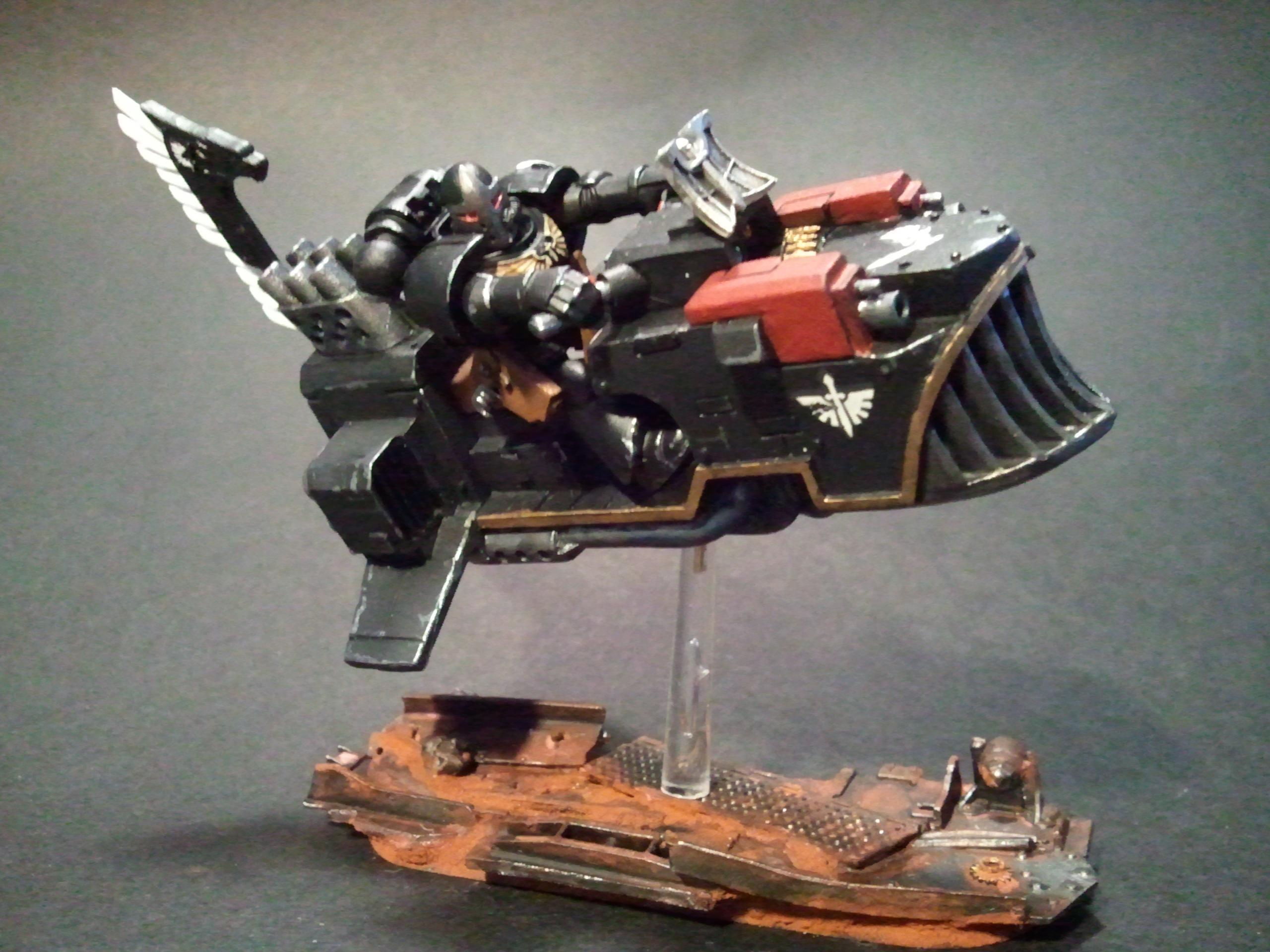 Conversion, Dark Angels, Jetbike, Land Speeder, Warhammer 40,000, Weathered
