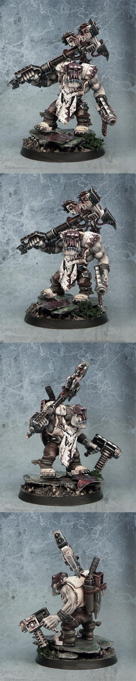 Albino, Axe, Nob, Orks, Warhammer 40,000