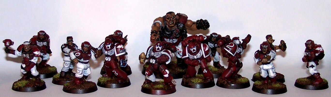 Blood Bowl, Emperor's Eagles, Imperial, Imperium, Space Marines