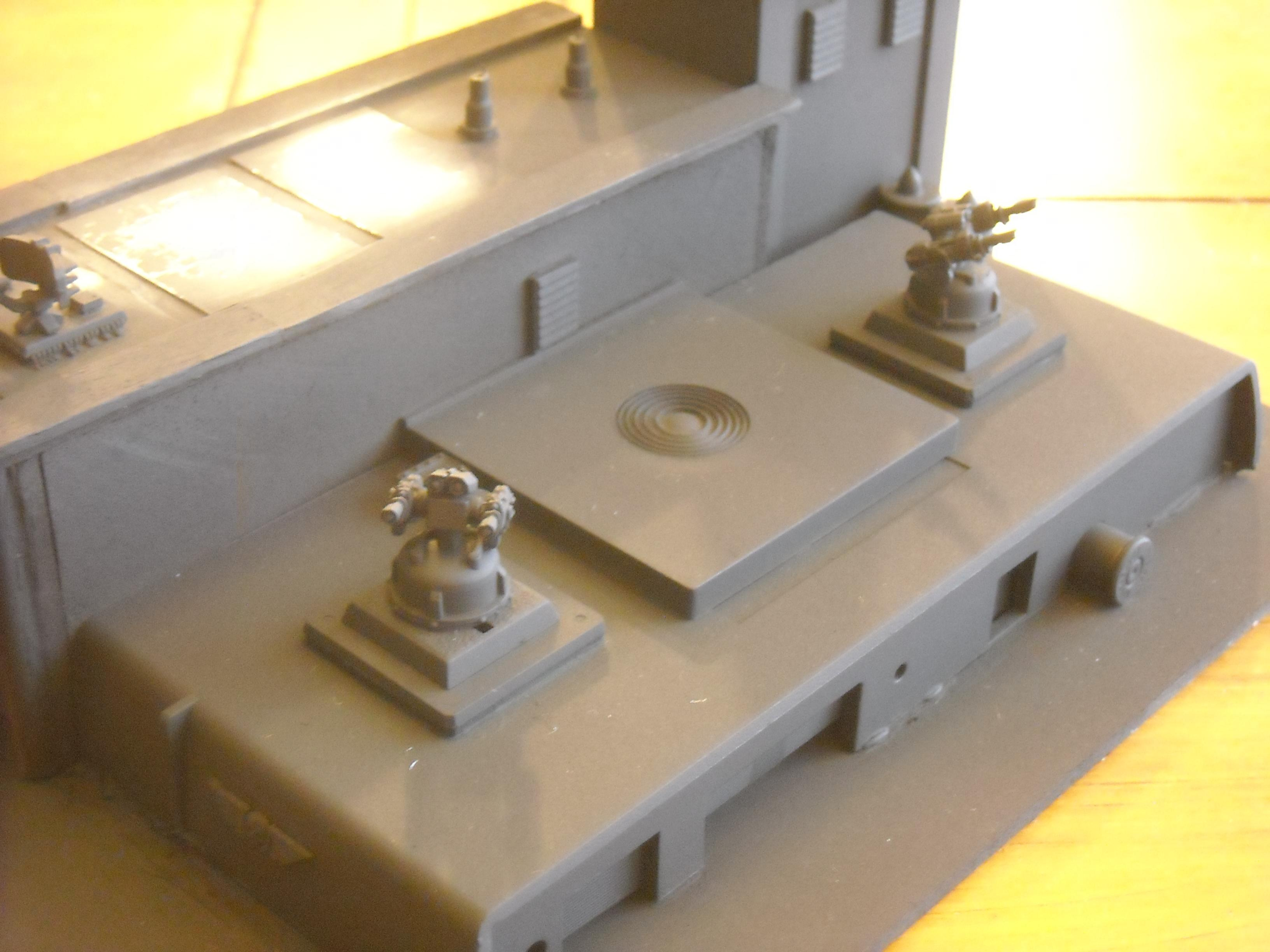 EPIC 40K - DA Command Center - detail of pad cannons