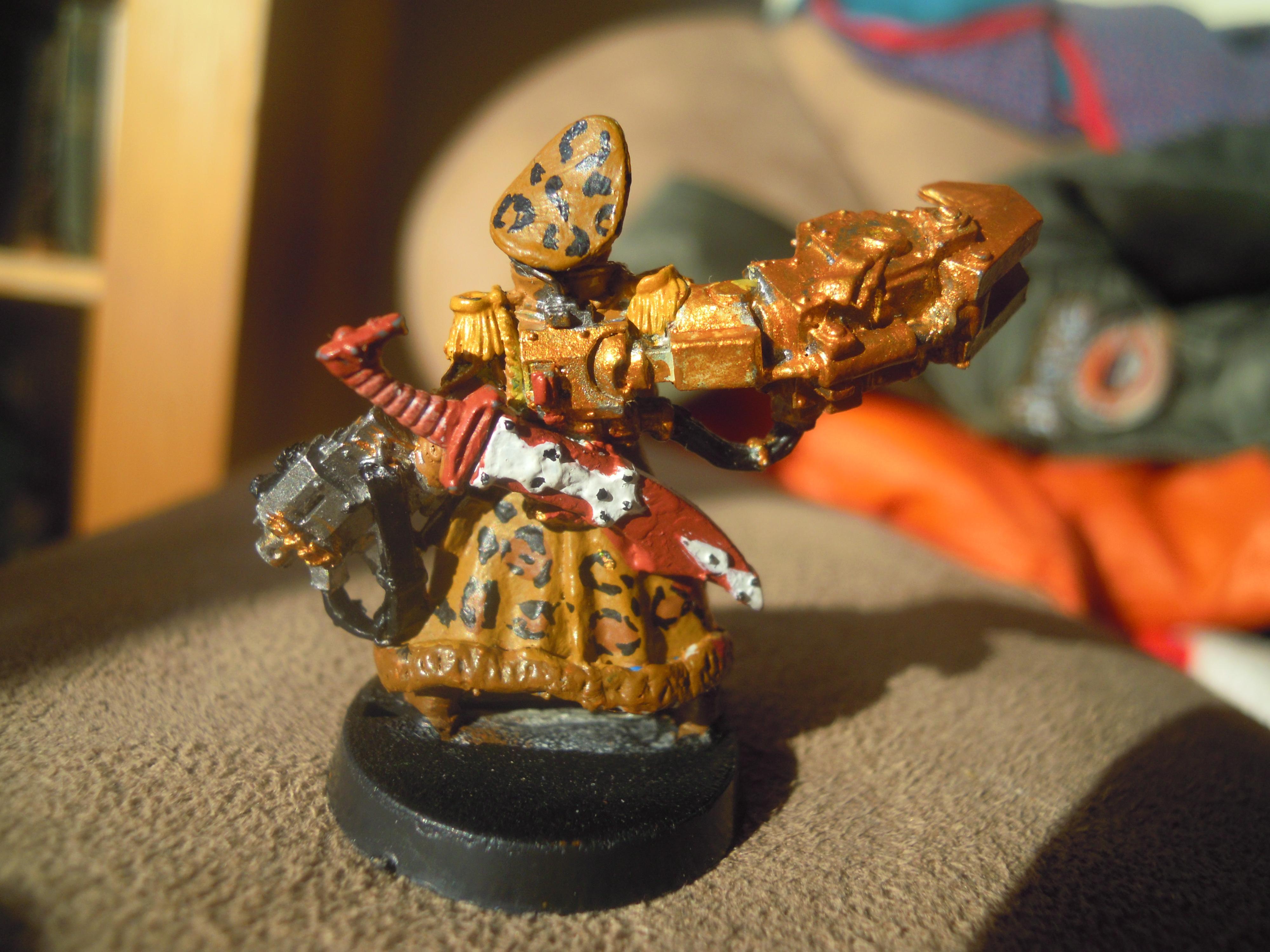Commissar, Imperial Guard, Leopard, Power Klaw, Sword, Yarrick